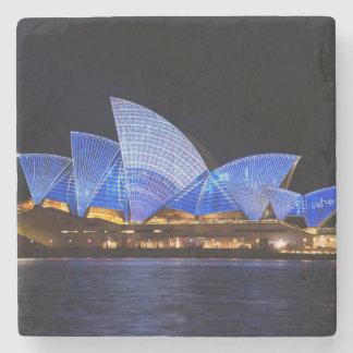 Porta Copos De Pedra Teatro da ópera de Austrália Sydney na noite