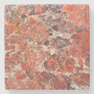 Porta Copos De Pedra Teste padrão alaranjado da pedra do jaspe