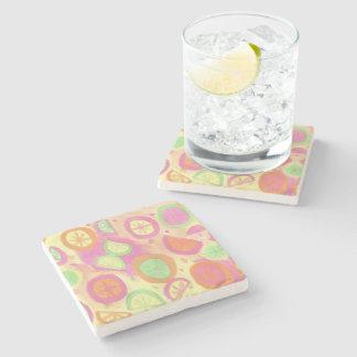 Porta Copos De Pedra Teste padrão cor-de-rosa da limonada