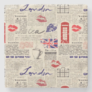 Porta Copos De Pedra Teste padrão do jornal de Londres