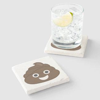 Porta Copos De Pedra Tombadilho parvo louco Emoji de Brown