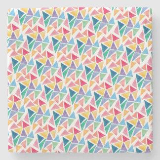 Porta Copos De Pedra Triângulo colorido moderno
