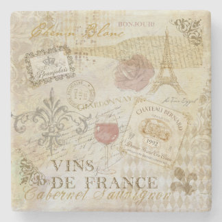 Porta copos de Vins de France II Porta-copo De Pedra