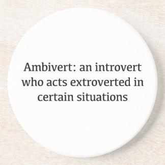 Porta-copos Definição de Ambivert