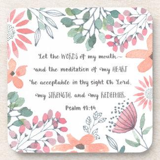 Porta-copos Deixe as palavras de minha boca - 19:14 do