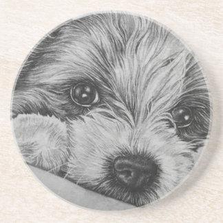 Porta-copos Desenho do cão de filhote de cachorro da arte
