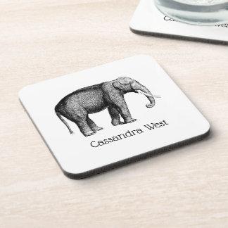 Porta-copos Desenho do elefante do vintage