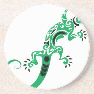 Porta-copos Desenho do lagarto verde