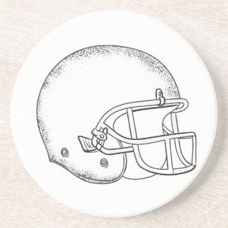 Porta-copos Desenho preto e branco do capacete de futebol