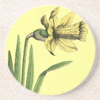 Porta-copos Desenho velho amarelo do Daffodil do amarelo do