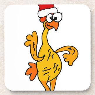 Porta-copos Desenhos animados de borracha engraçados do Natal