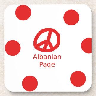 Porta Copos Design albanês do símbolo de paz