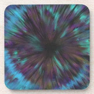 Porta-copos Design azul da arte abstracta da ilusão óptica do
