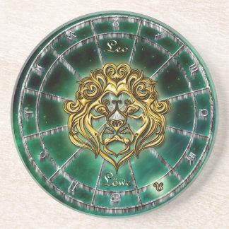 Porta-copos Design da astrologia do zodíaco de Leo