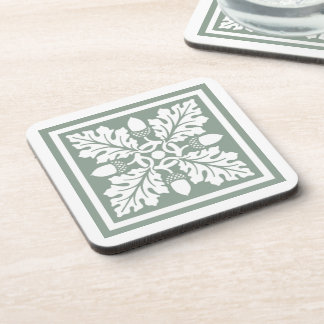 Porta Copos Design do azulejo da bolota e da folha do peltre