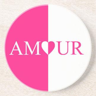 Porta-copos Design do rosa do amor do CASO AMOROSO
