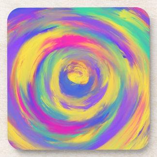 Porta Copos Design espiral amarelo cor-de-rosa roxo azul da