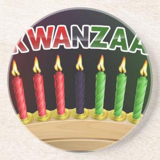 Porta-copos Design feliz das velas de Kwanzaa