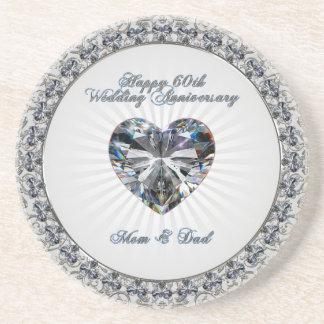 Porta copos do aniversário de casamento de Heaert