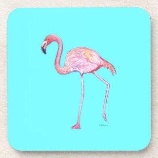 Porta copos do azul de turquesa do flamingo