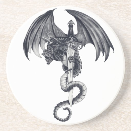 Porta copos do dragão & da espada