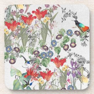 Porta copos do jardim do lírio dos pássaros do