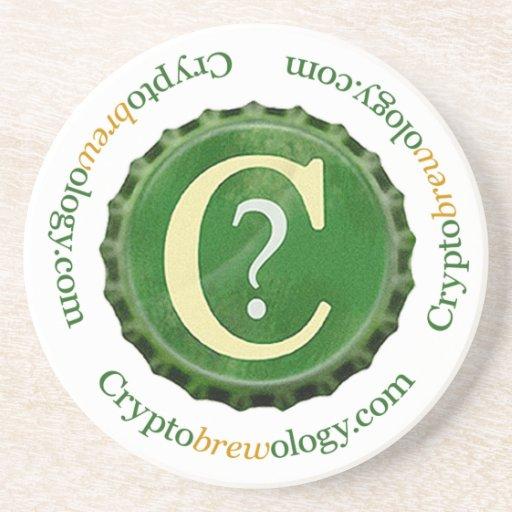 Porta copos do logotipo de Cryptobrewology
