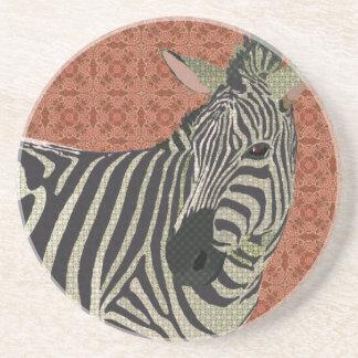 Porta copos do rosa da arte da zebra