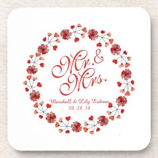 Porta copos do Sr. & da Sra. Elegante Floral