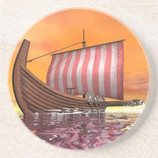 Porta-copos Drakkar ou navio de viquingue - 3D rendem