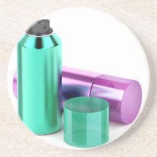 Porta-copos Duas latas de pulverizador do aerossol