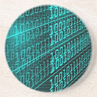 Porta-copos ELE programador de programação do código binário
