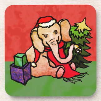 Porta-copos Elefante tradicional doce do papai noel do Natal