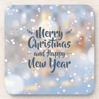 Porta copos elegante do Natal & do feliz ano novo