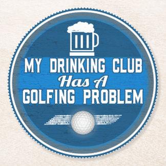 Porta copos engraçada do golfe porta-copo de papel redondo