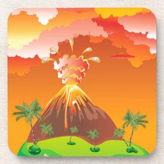 Porta-copos Erupção 2 do vulcão dos desenhos animados