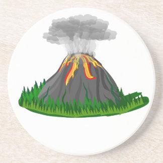 Porta-copos erupção e fogo do vulcão