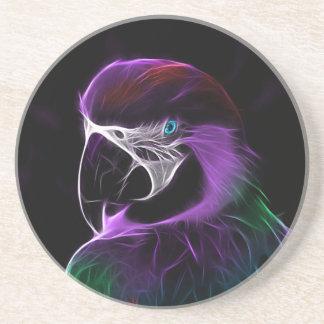 Porta-copos escala do design do fractal do papagaio