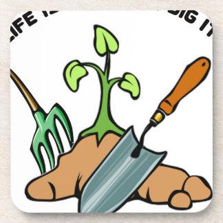 Porta Copos Escave-o, vida é um jardim