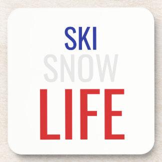 Porta Copos Esqui, neve, vida