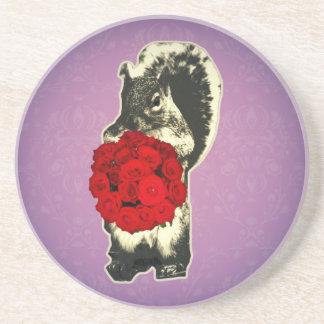 Porta-copos Esquilo engraçado do rosa do dia dos namorados