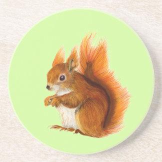 Porta-copos Esquilo vermelho pintado na arte dos animais
