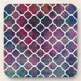 Porta Copos Estilo cor-de-rosa do marroquino do Grunge