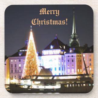 Porta-copos Éstocolmo, suecia no Natal na noite