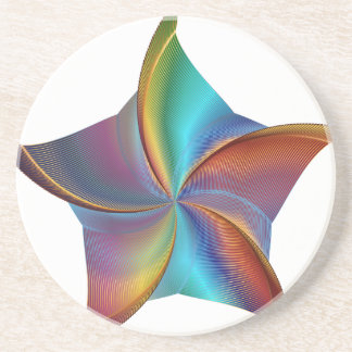 Porta-copos Estrela de roda de prisma colorido do arco-íris