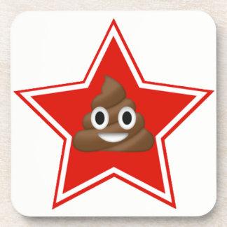 Porta Copos Estrela Emoji Poo