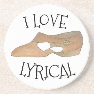 Porta-copos Eu amo calçados líricos do professor da dança