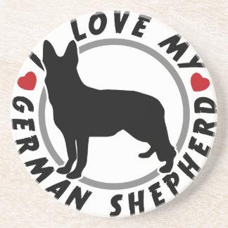 Porta-copos Eu amo meu german shepherd