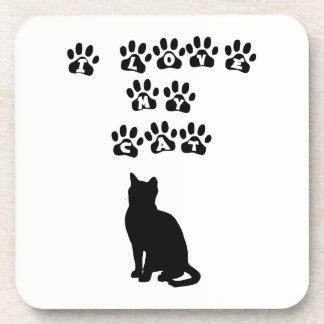 Porta Copos Eu amo meu preto do gato
