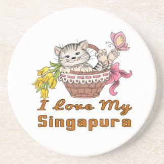 Porta-copos Eu amo meu Singapura